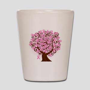 The Tree of Life...Breast Cancer Shot Glass