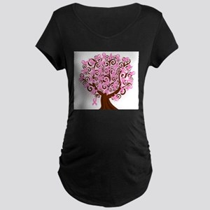 The Tree of Life...Breast Cancer Maternity T-Shirt