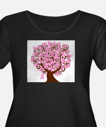 The Tree of Life...Breast Cancer Plus Size T-Shirt