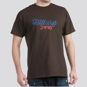 Hillary 2016 Heart Dark T-Shirt
