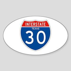 Interstate 30 - TX Oval Sticker