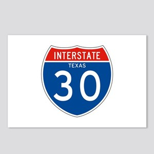 Interstate 30 - TX Postcards (Package of 8)