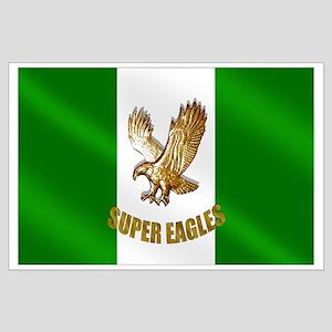 Nigerian Eagle Flag Large Poster