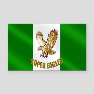 Nigerian Eagle Flag Rectangle Car Magnet