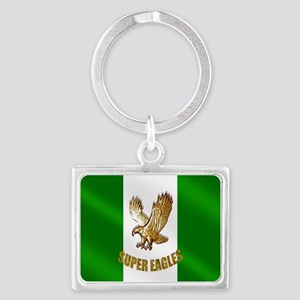 Nigerian Eagle Flag Landscape Keychain