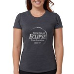 Personalize Eclipse 2017 Womens Tri-blend T-Shirt