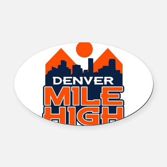 Mile High Oval Car Magnet