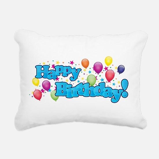Happy Birthday Rectangular Canvas Pillow