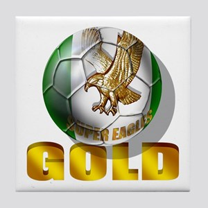 Nigerian Football Gold Tile Coaster