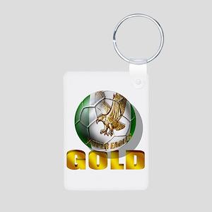 Nigerian Football Gold Aluminum Photo Keychain