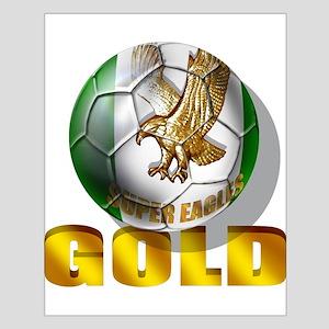 Nigerian Football Gold Small Poster