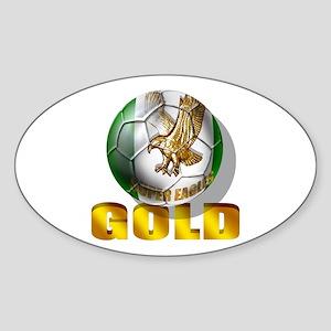 Nigerian Football Gold Sticker (Oval)