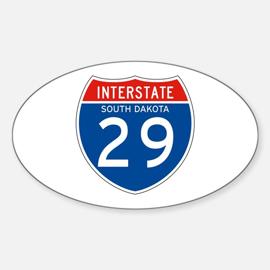 Interstate 29 - SD Oval Decal