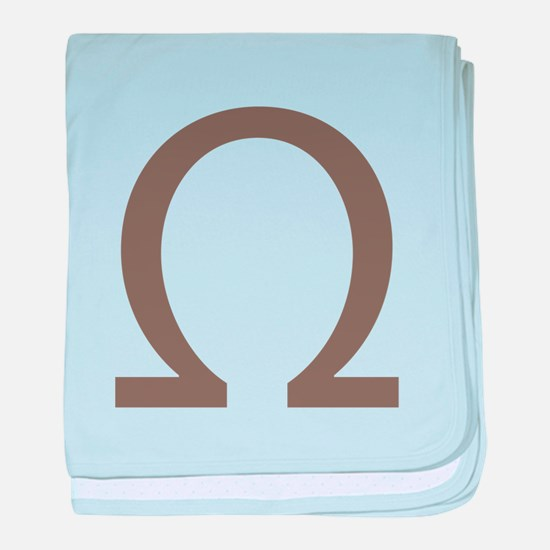 The Greek Alpha Symbol baby blanket