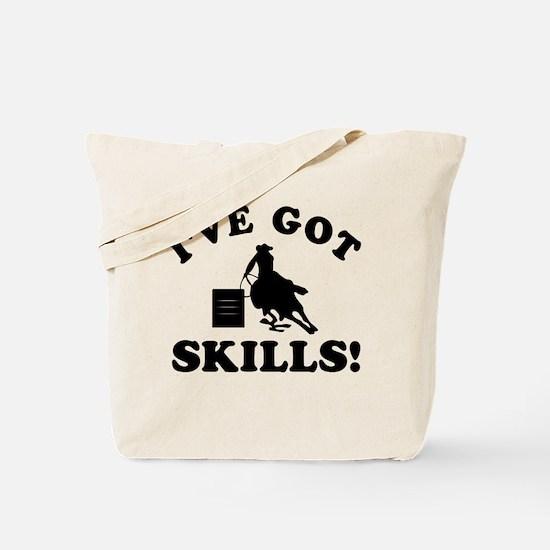 Barrel Riding Designs Tote Bag