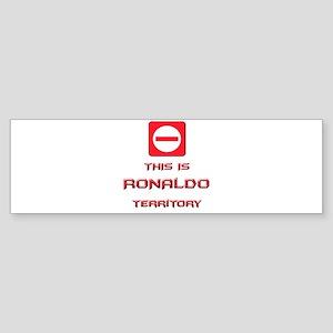 ronaldo territory Bumper Sticker