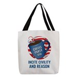 Polyester Tote Bag   Coffee Party Usa