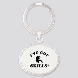 Paintball Designs Oval Keychain