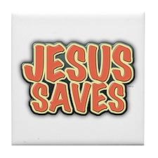 Jesus Saves Tile Coaster