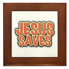 Jesus Saves Framed Tile