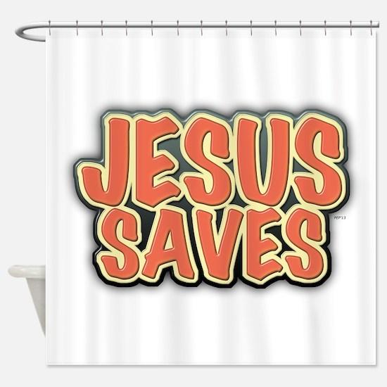 Jesus Saves Shower Curtain