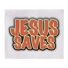 Jesus Saves Throw Blanket