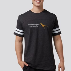 Velociraptor Math Mens Football Shirt