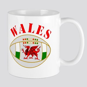Wales style rugby ball Small Mug