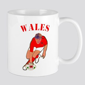 Wales style rugby player Small Mug