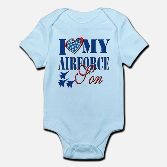 I Love My Airforce Son Body Suit