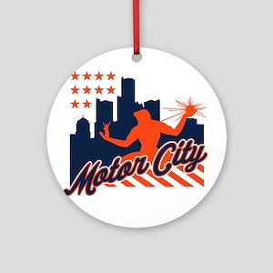 Motor City Ornament (Round)