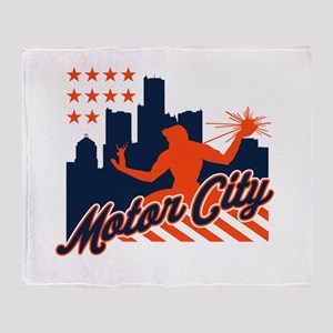 Motor City Throw Blanket