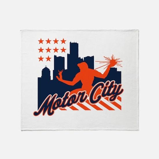 Motor City Throw Blanket