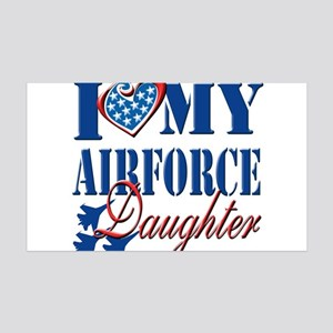 I Love My Airforce Daughter Wall Decal