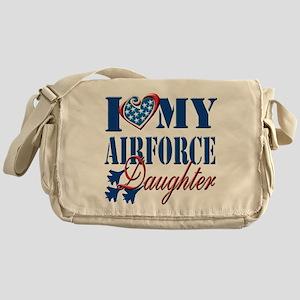 I Love My Airforce Daughter Messenger Bag