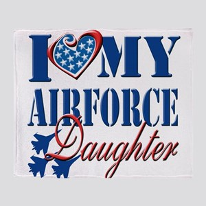 I Love My Airforce Daughter Throw Blanket