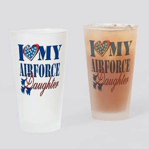 I Love My Airforce Daughter Drinking Glass