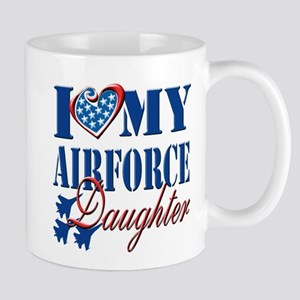 I Love My Airforce Daughter Mug