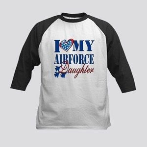 I Love My Airforce Daughter Baseball Jersey