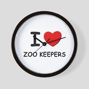 I Love zoo keepers Wall Clock