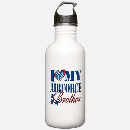 I Love My Airforce Brother Water Bottle