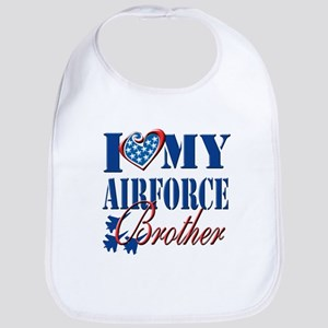 I Love My Airforce Brother Bib