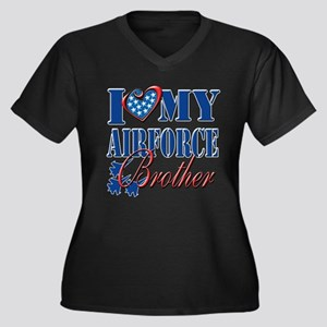 I Love My Airforce Brother Plus Size T-Shirt