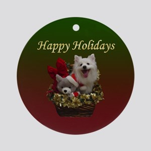 American Eskimo Dog Ornament (Round)