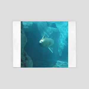Seal swimming 5'x7'Area Rug