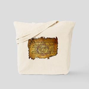 charmed invoking spell Tote Bag