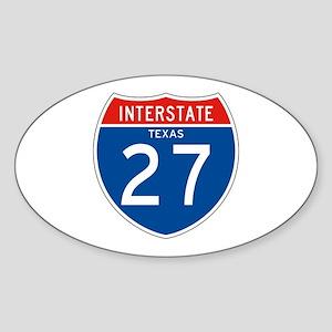 Interstate 27 - TX Oval Sticker