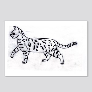 Bengal or Savannah Cat Postcards (Package of 8)