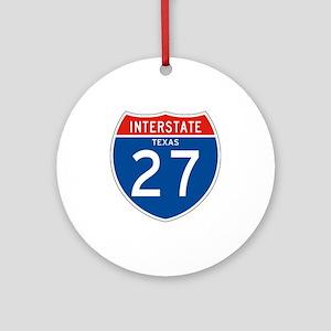 Interstate 27 - TX Ornament (Round)