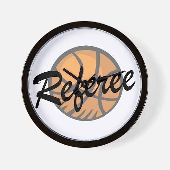 Basketball Referee Wall Clock